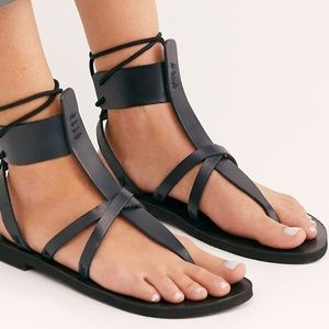 Free People Vacation Day Wrap Sandals Black